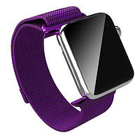 BeWatch Purple Milanese Loop - Ремешок для Apple Watch Миланская петля. 38 mm Purple