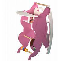 Стульчик для кормления с качалкой и столиком SportBaby Слоник