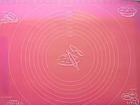 Коврик кондитерский силиконовый с разметкой  48*36 см