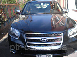 Накладка на решітку (2006-2010, 2 шт., нерж.) - Hyundai Santa Fe 2 2006-2012 рр ..