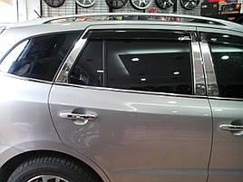 Молдинг дверних стійок (6 шт, нерж.) - Hyundai Santa Fe 2 2006-2012 рр ..