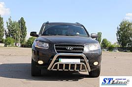 Кенгурятник WT002 (нерж.) - Hyundai Santa Fe 2 2006-2012 рр ..