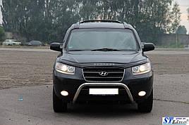 Кенгурятник WT007 (нерж.) - Hyundai Santa Fe 2 2006-2012 рр ..