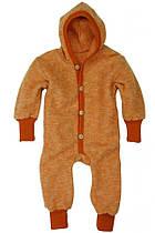 Детский флисовый комбинезон Cosilana из шерсти мериноса оранжевый арт. 46928 119