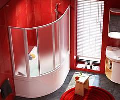 Двери для ванны Rosa I раздвижные  VDKP4 Rosa 140 см