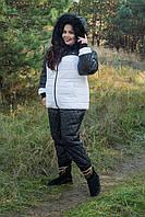 Женский зимний теплый костюм из стеганной плащевки в больших размерах 10151170, фото 1