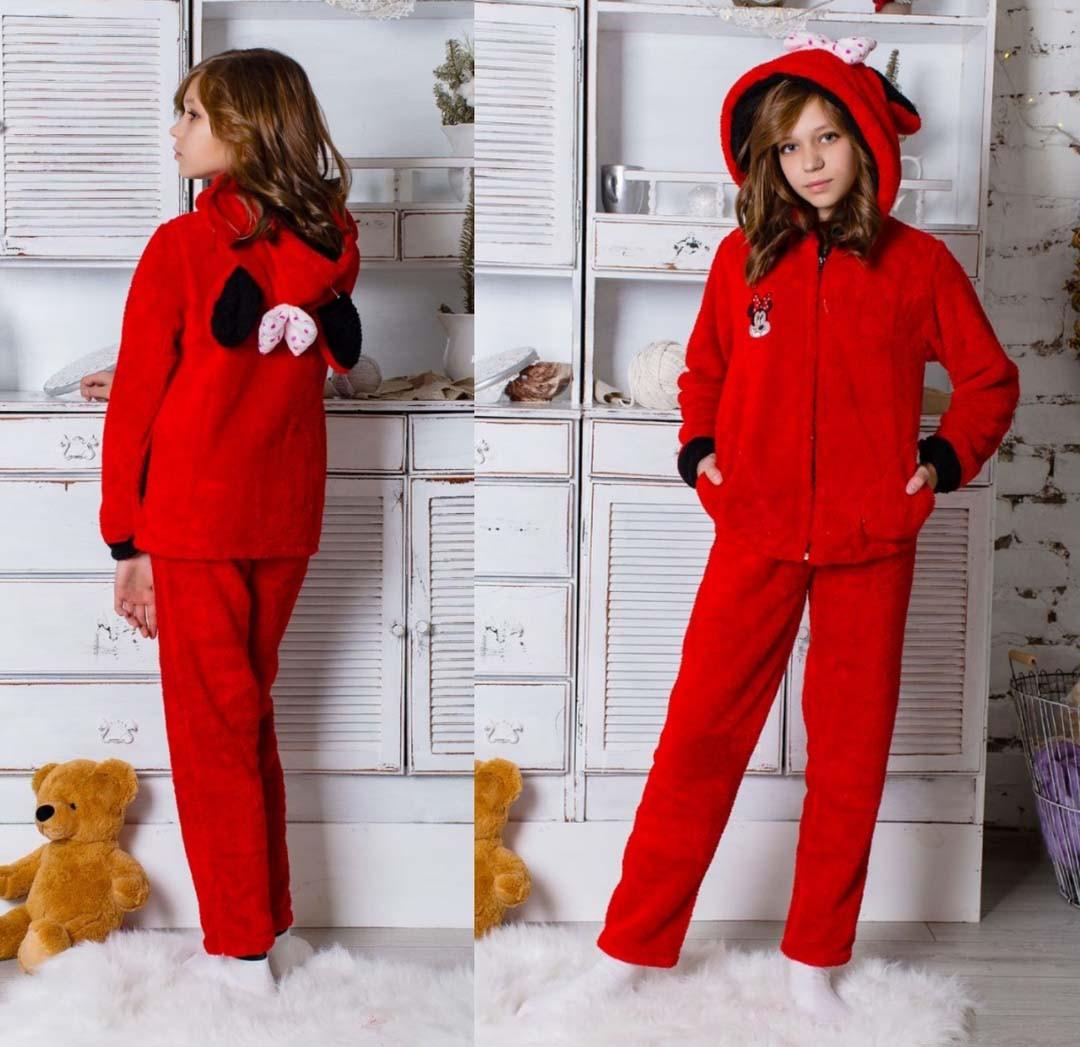 """Дитячий махровий домашній костюм підліток 074 """"Міккі"""" в кольорах"""