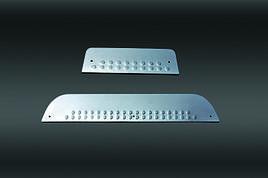 Накладки на пороги (нерж) - Hyundai H1 Starex H300 2008+ рр.