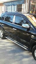 Накладки на стойки (нерж) - Hyundai Tucson JM 2004+ гг.