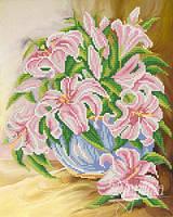 Схема для вышивки бисером Розовые лилии РКП-242