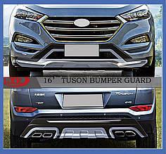 Передня і задня накладки (2 шт) - Hyundai Tucson TL 2016+ рр.