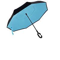 Вітрозахисний парасолька зворотного складання д110см 8сп WHW17133 Blue L., фото 1