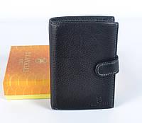 Итальянский мужской кожаный кошелек черного цвета