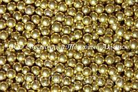 Декоративні перлини — Золоті Ø7 - 200 г