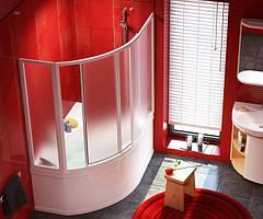 Двері для ванни Rosa I розсувні VDKP4 Rosa 160 см