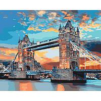 """Картина по номерам. Городской пейзаж """"Лондонський мост""""  KHO3515"""