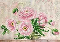 Схема для вышивки бисером Розовые маки РКП-230