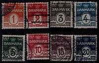 Марки Дании Подборка 1905 года