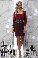 Платье Аэлита д/р S, бордо