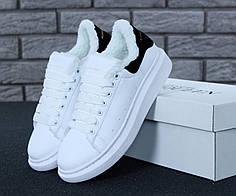 Женские кроссовки Alexander McQueen Oversized Sneakers Winter. ТОП Реплика ААА класса.