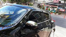 Накладки на зеркала, 2010-2014 (2 шт, нерж.) - Nissan Juke 2010+ гг.