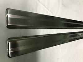 Накладки на пороги Carmos (2 шт, нерж) - Nissan Juke 2010+ гг.