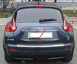 Накладка на задний бампер ГЛЯНЕЦ OmsaLine (нерж) - Nissan Juke 2010+ гг.