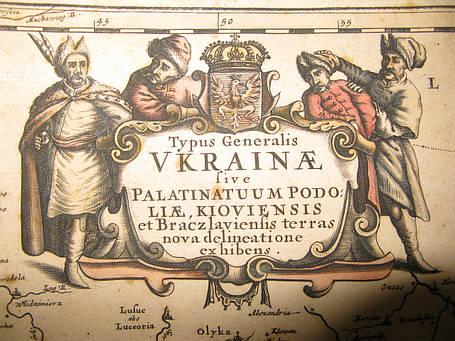 Карта Украины TYPUS GENERALIS UKRAINAE 17 век, фото 2