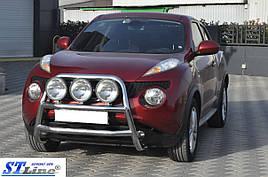 Кенгурятник WT018 (нерж) - Nissan Juke 2010+ гг.