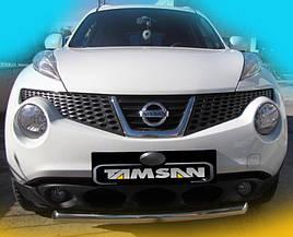 Передняя защита ST008-1 (нерж) - Nissan Juke 2010+ гг.