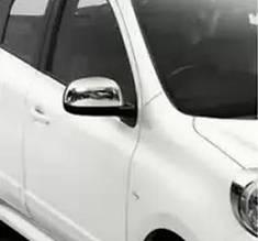 Накладки на зеркала (2 шт, нерж) - Nissan Micra K13 2011+ гг.