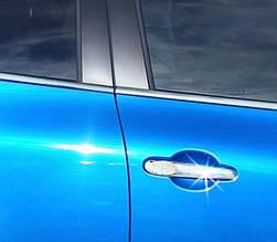 Накладки на ручки (4 шт., нерж.) Nissan Micra K13 2011+ рр.