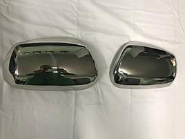Накладки на зеркала (2 шт, нерж) - Nissan Murano 2008-2014 гг.