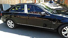 Накладки на стойки (нерж) - Mercedes C-Klass W204