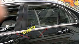 Накладки на молдинги стекол (нерж) - Mercedes C-Klass W204