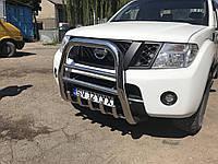Кенгурятник QT007 (нерж) - Nissan Navara 2006-2015 гг.