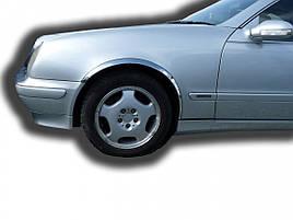 Накладки на арки (4 шт, нерж) - Mercedes CLK W208