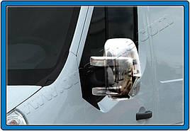 Накладки на зеркала (2 шт, пласт.) - Nissan NV400 2010+ гг.