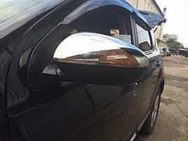 Накладки на зеркала (2 шт, сталь) - Nissan Qashqai 2007-2014 гг.