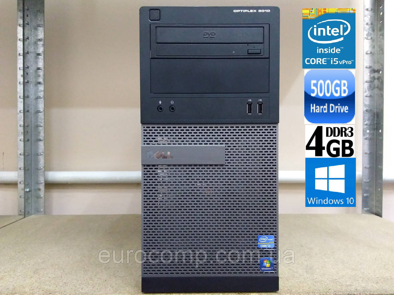 Мощный компьютер для дома и игр на Core i5-3470 Dell Optiplex 3010 MT (Windows 7 Лицензия)