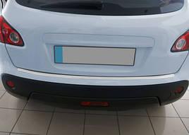 Накладка на задний бампер OmsaLine (нерж.) - Nissan Qashqai 2007-2014 гг.
