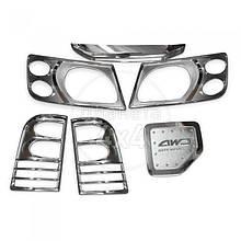 Накладки на фары (пласт.) - Nissan Patrol Y61 1997-2011 гг.