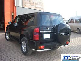 Задние углы (2 шт, нерж.) - Nissan Patrol Y61 1997-2011 гг.