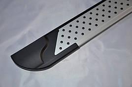 Боковые площадки X5-тип (2 шт., алюминий) - Nissan Patrol Y62 2010+ гг.