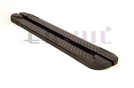 Боковые подножки Allmond Black (2 шт, алюминий) - Nissan Pathfinder 2015+ гг.