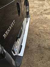 Накладки на задний бампер с загибом (Carmos, сталь) - Nissan Primastar 2002-2014 гг.