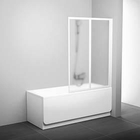 Штора для ванны двухэлементная VS2 105 cм