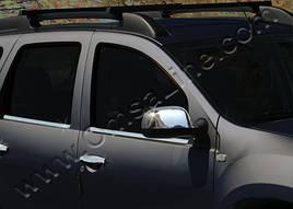 Накладки на зеркала (2 шт, нерж) - Nissan Terrano 2014+ гг.