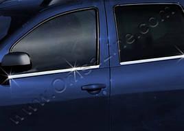 Молдинг стекла (4 шт, нерж) - Nissan Terrano 2014+ гг.