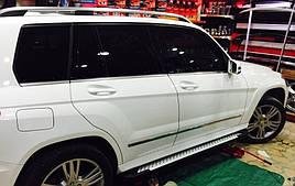 Бічні майданчики Allmond (2 шт, алюміній) - Mercedes GLK klass X204